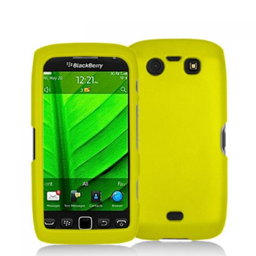 BlackBerry Torch 9850 9860 Yellow Hard Rubberized Case Cover