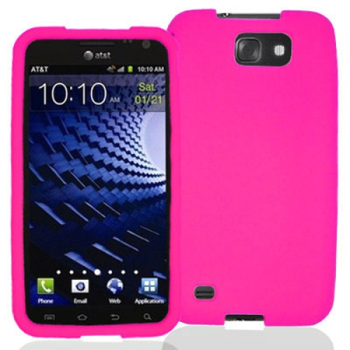 Samsung Skyrocket HD i757 Hot Pink Silicone Soft Skin Case Cover