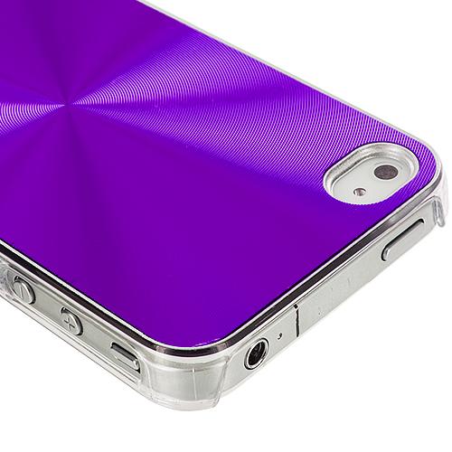 Apple iPhone 4 / 4S Purple Aluminum Circles Case Cover