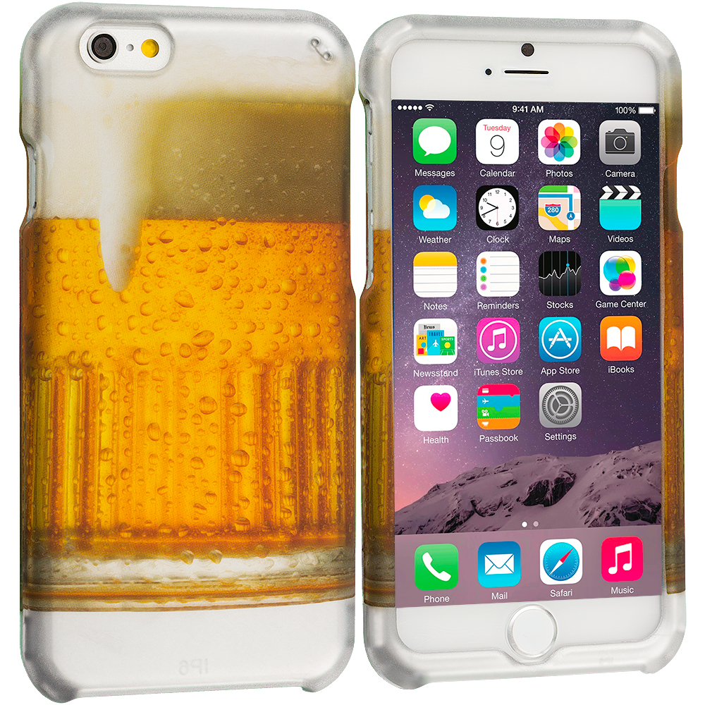 Apple iPhone 6 Plus 6S Plus (5.5) Beer 2D Hard Rubberized Design Case Cover