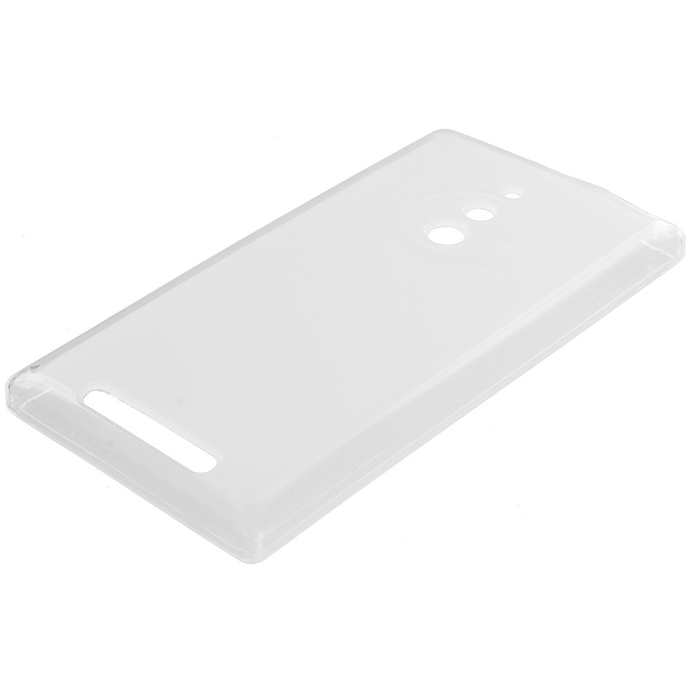 Nokia Lumia 830 Clear TPU Rubber Skin Case Cover