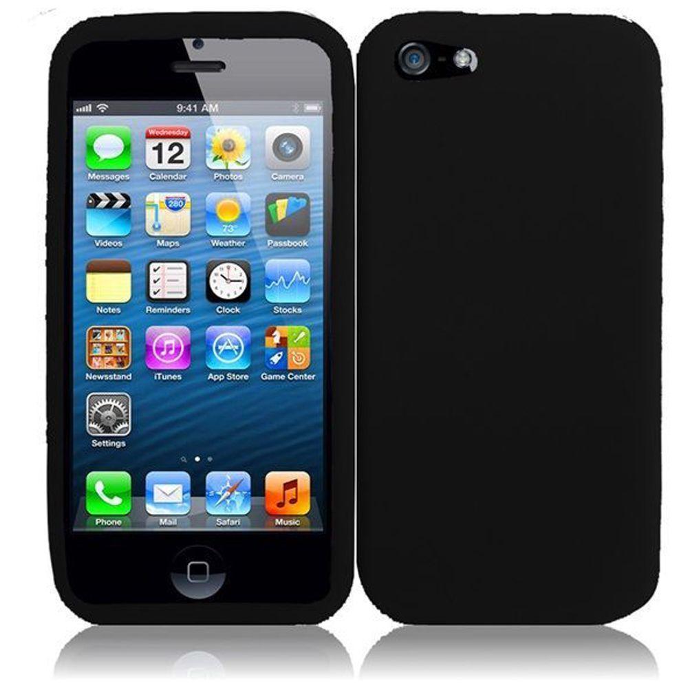 for apple iphone 5 5s se silicone skin soft rubber case. Black Bedroom Furniture Sets. Home Design Ideas