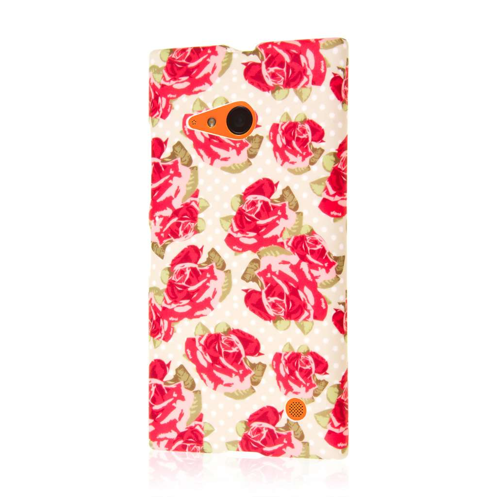 Nokia Lumia 735 - Vintage Red Roses MPERO SNAPZ - Case Cover