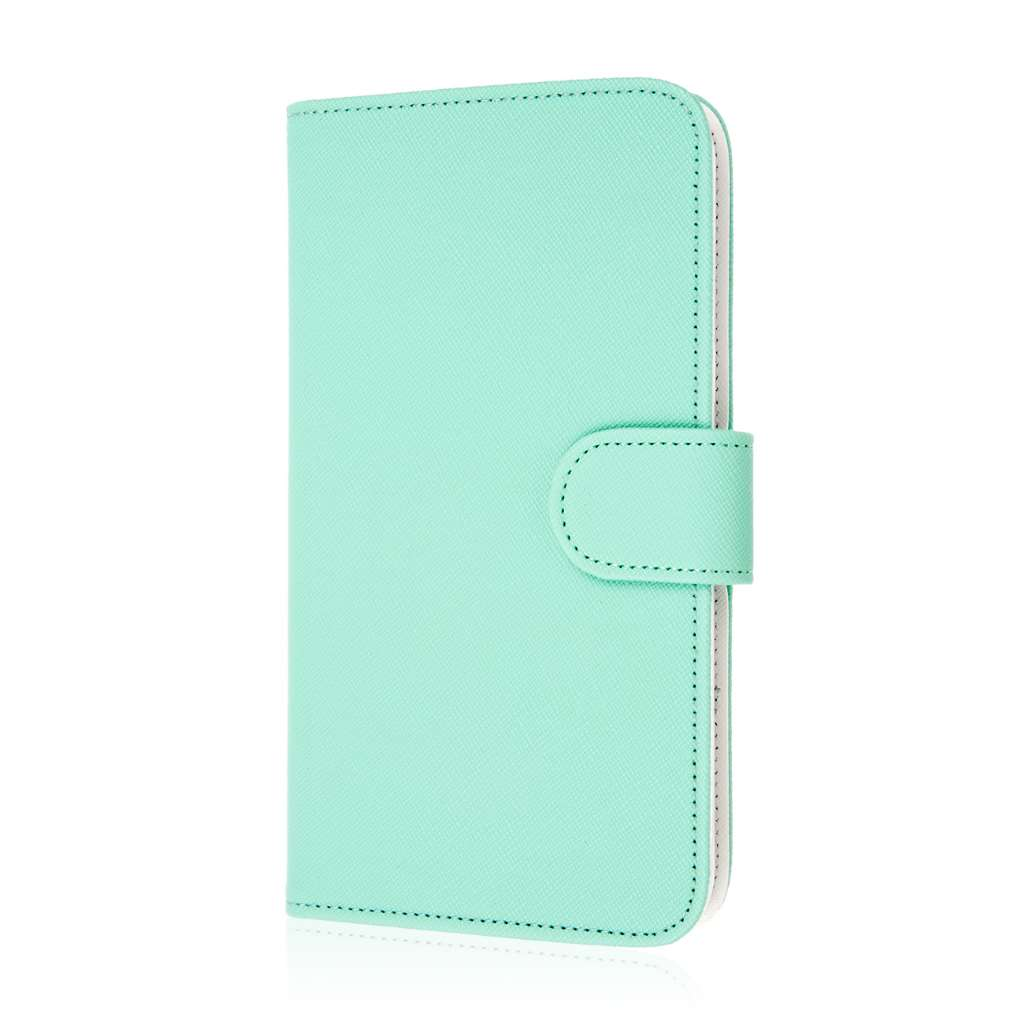 Samsung Galaxy Mega 2 - Mint MPERO FLEX FLIP Wallet Case Cover
