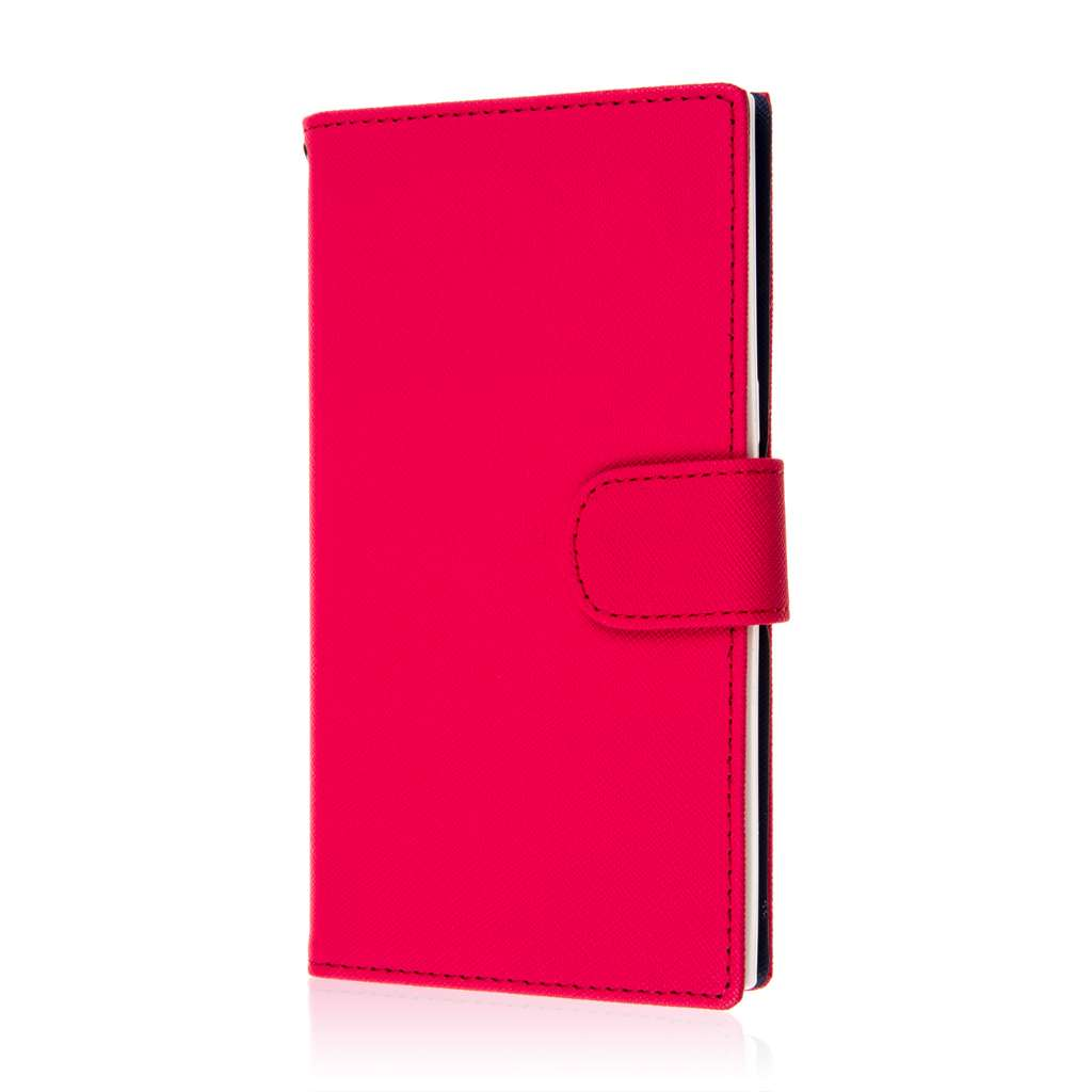 ZTE ZMAX - Hot Pink MPERO FLEX FLIP Wallet Case Cover