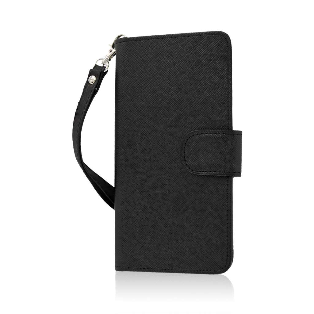 BLU Studio 5.0 S II - Black MPERO FLEX FLIP Wallet Case Cover