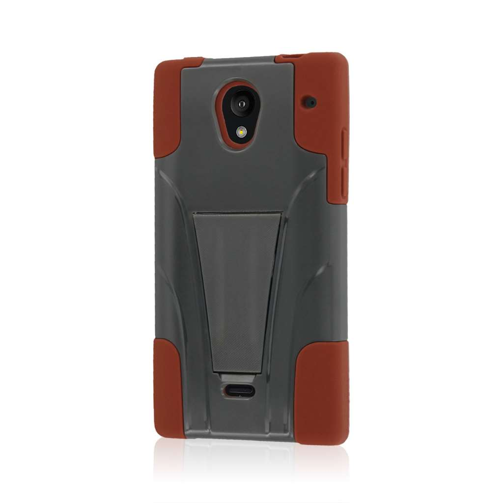 Sharp AQUOS Crystal - Sandstone / Gray MPERO IMPACT X - Kickstand Case Cover