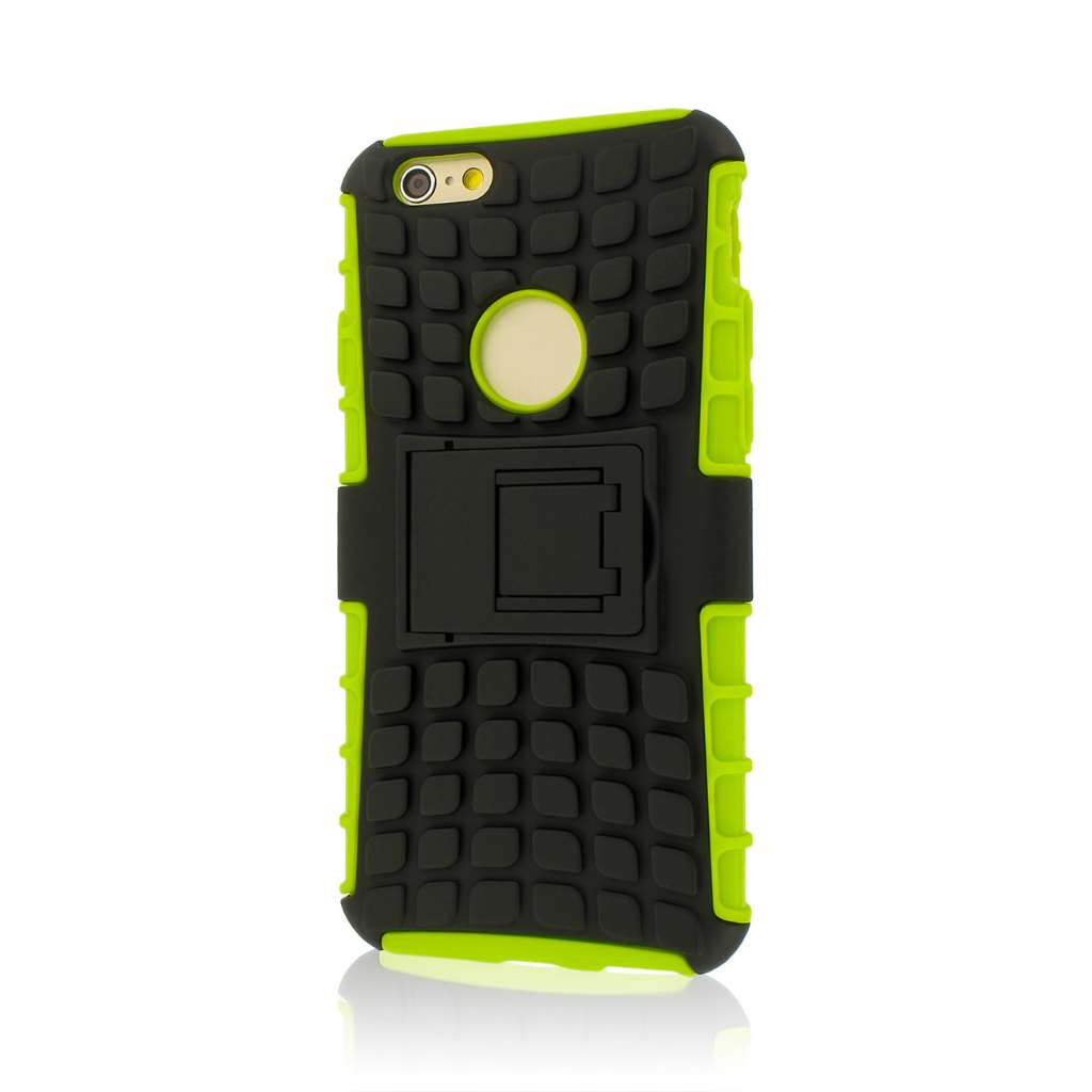 Apple iPhone 6/6S - Neon Green MPERO IMPACT SR - Kickstand Case Cover