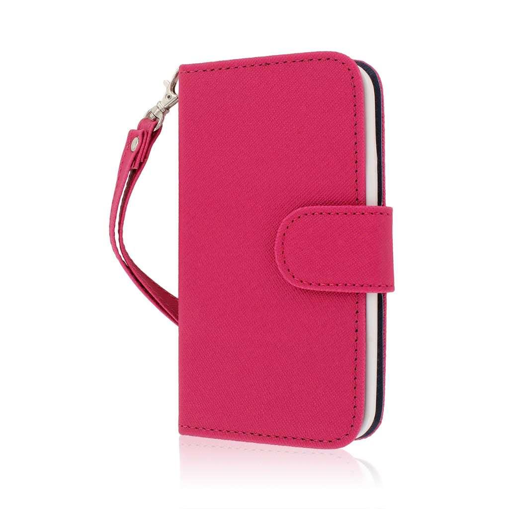 Samsung Galaxy S5 Mini - Hot Pink MPERO FLEX FLIP Wallet Case Cover