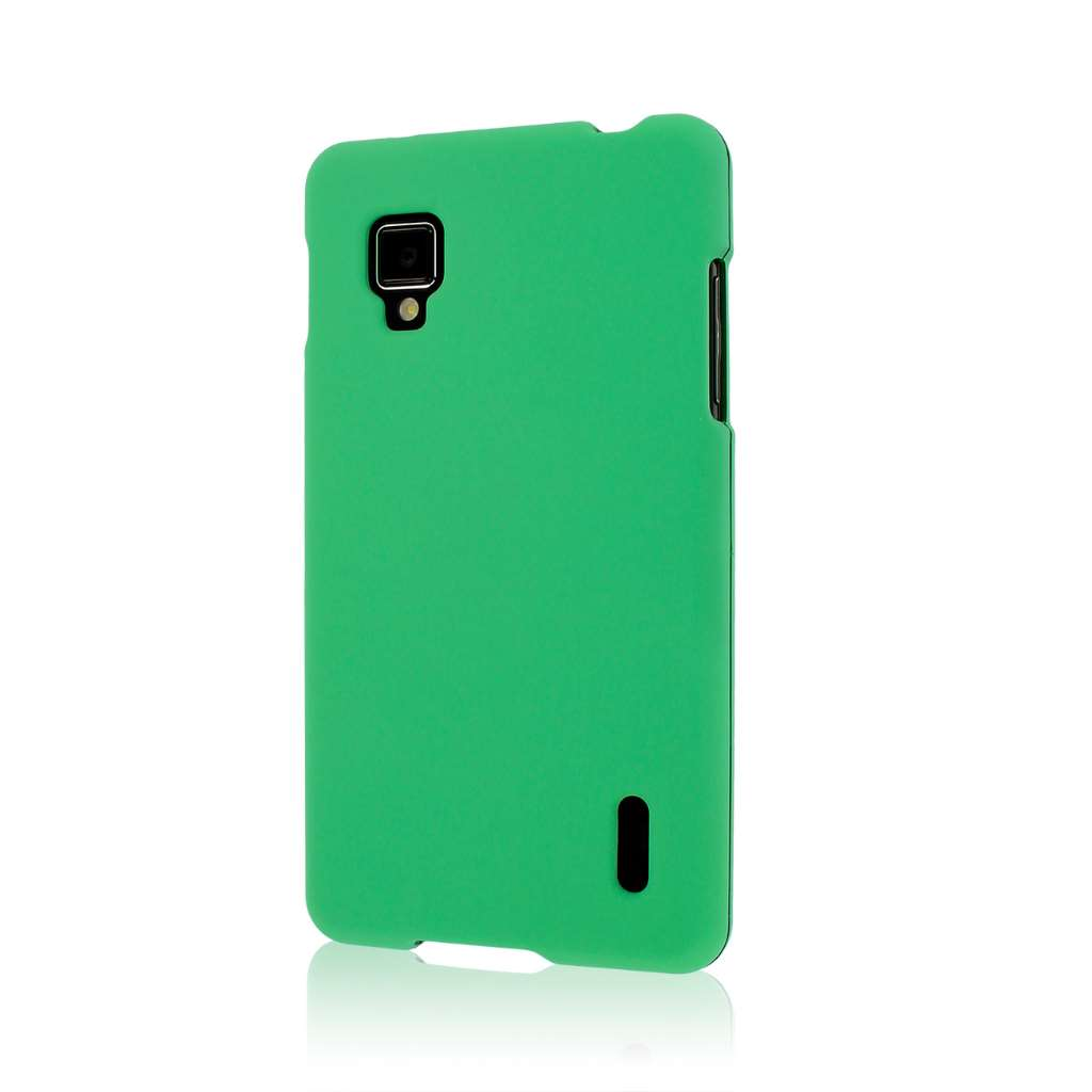Sprint LG Optimus G - Mint Green MPERO SNAPZ - Rubberized Case Cover