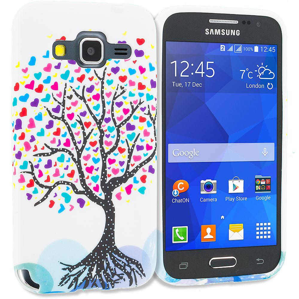 Samsung Galaxy Prevail LTE Core Prime G360P Love Tree TPU Design Soft Rubber Case Cover