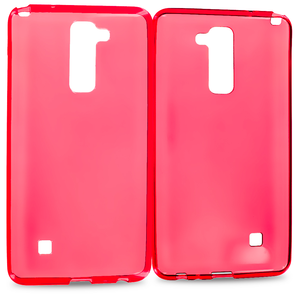 LG Stylo 2 LS775 Red TPU Rubber Skin Case Cover