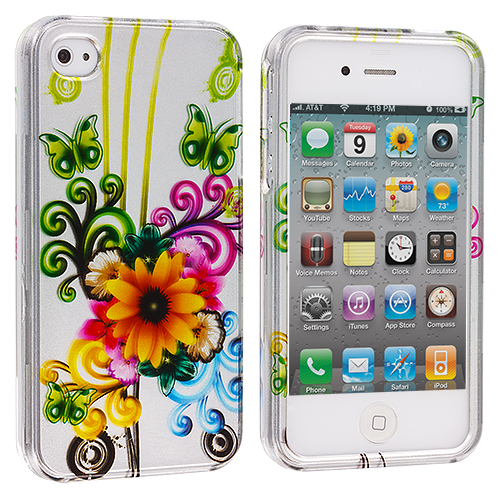 Apple iPhone 4 Sunflower Design Crystal Hard Case Cover