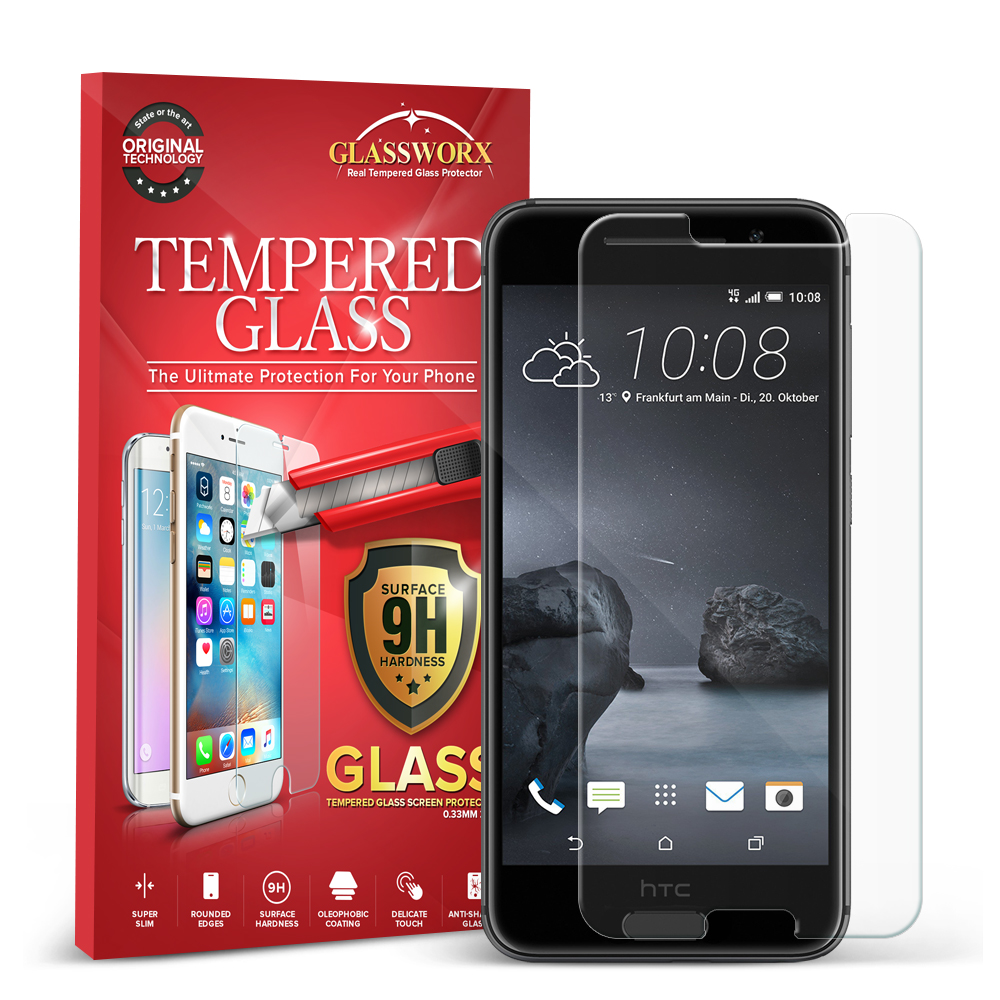 HTC Aero One A9 GlassWorX HD Clear Tempered Glass Screen Protector