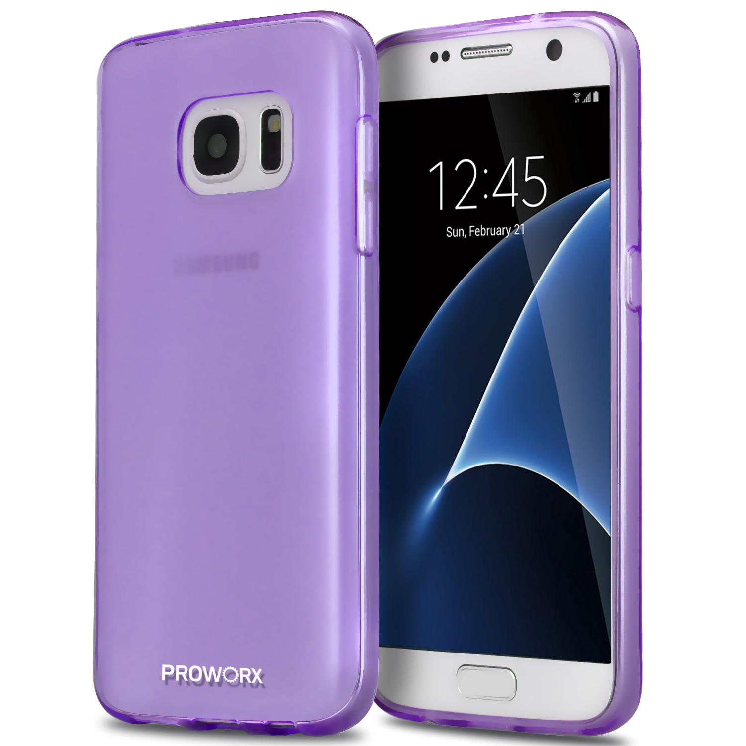 Samsung Galaxy S7 Purple ProWorx Ultra Slim Thin Scratch Resistant TPU Silicone Case Cover