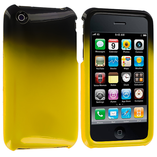 Apple iPhone 3G / 3GS Black / Yellow Two-Tone Hard Case Cover