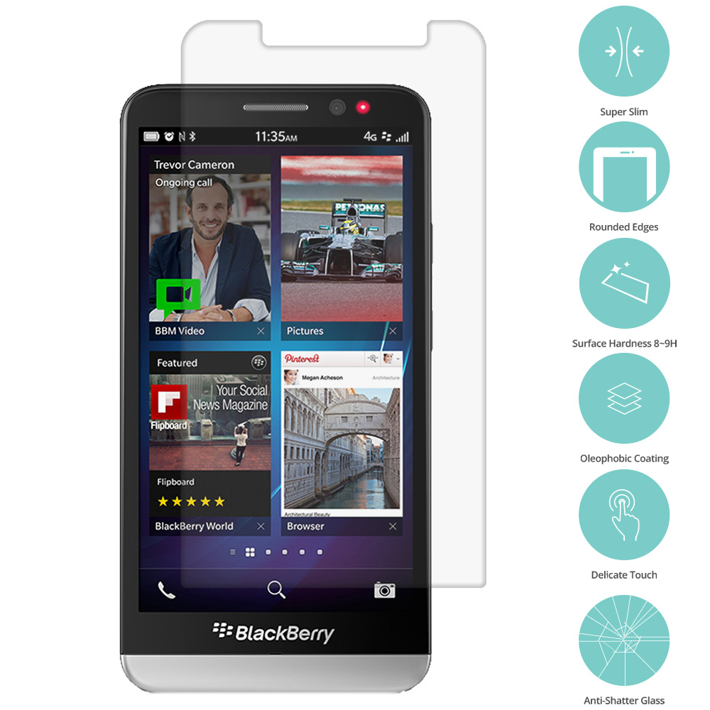 Blackberry Z30 Clear Tempered Glass Film Screen Protector Clear