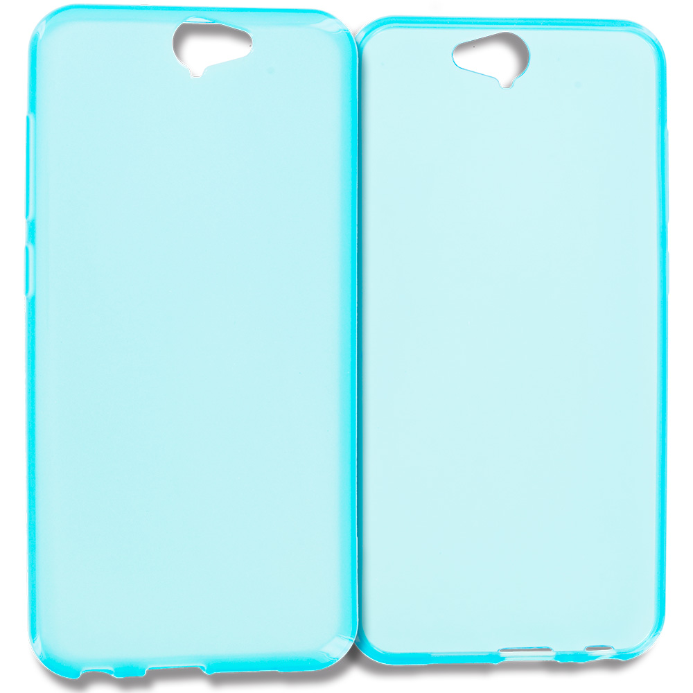 HTC Aero One A9 Baby Blue TPU Rubber Skin Case Cover