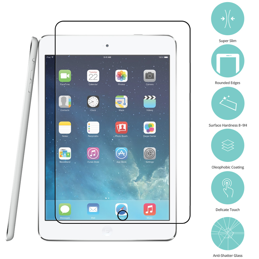 Apple iPad Air 1 / 2 / Pro 9.7 Clear Tempered Glass Film Screen Protector Clear