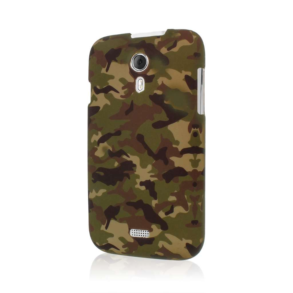 BLU Studio 5.0 - Green Camo MPERO SNAPZ - Rubberized Case Cover
