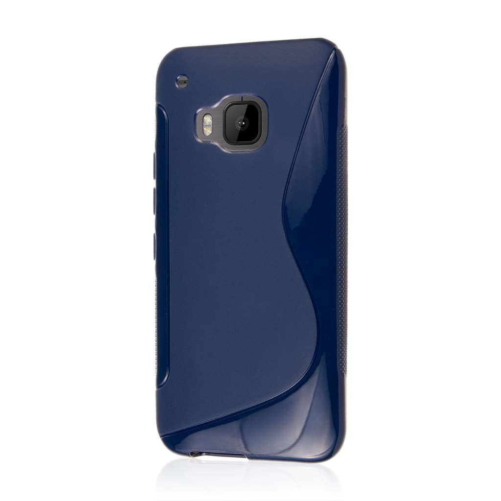 HTC One M9 - Navy Blue MPERO FLEX S - Protective Case Cover