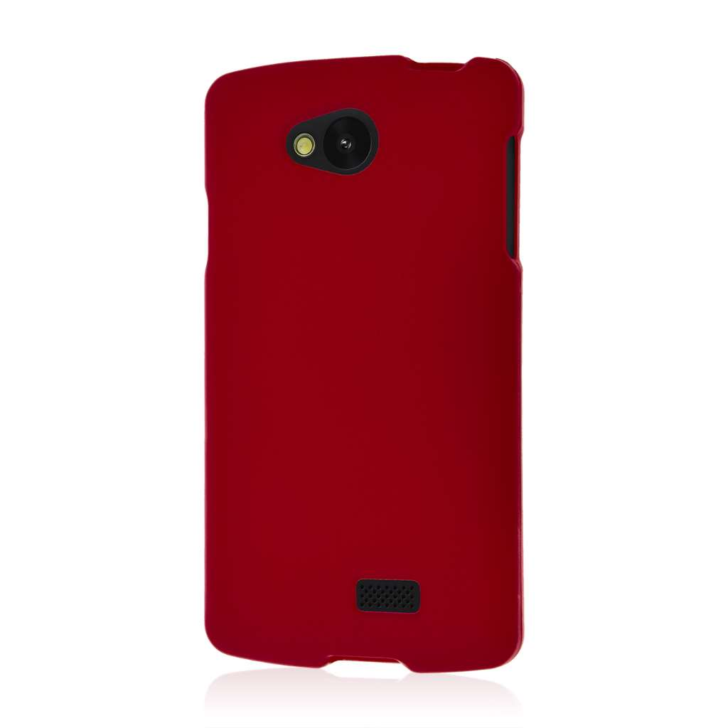 LG F60 - Burgundy MPERO SNAPZ - Case Cover