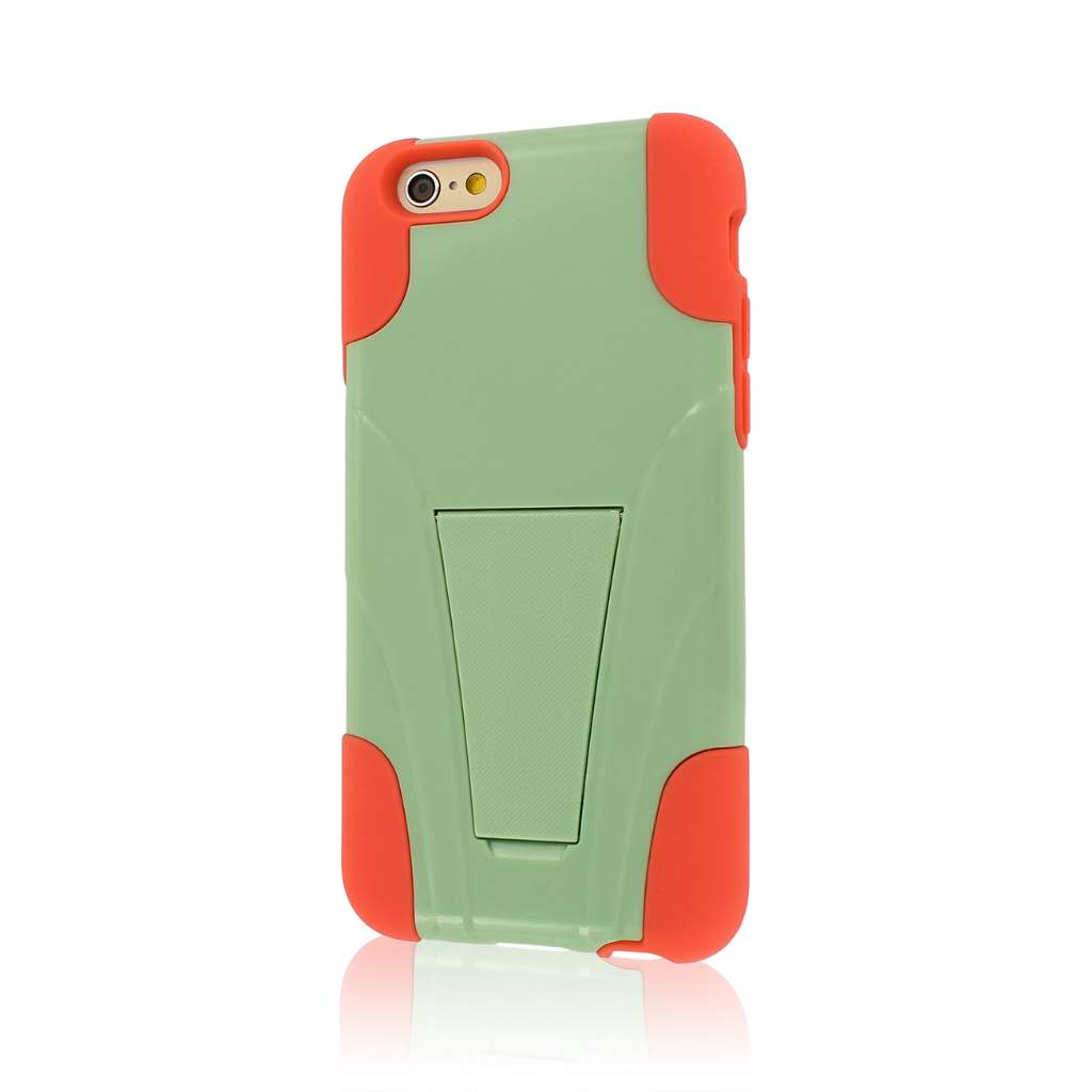 Apple iPhone 6/6S - Coral / Mint MPERO IMPACT X - Kickstand Case Cover