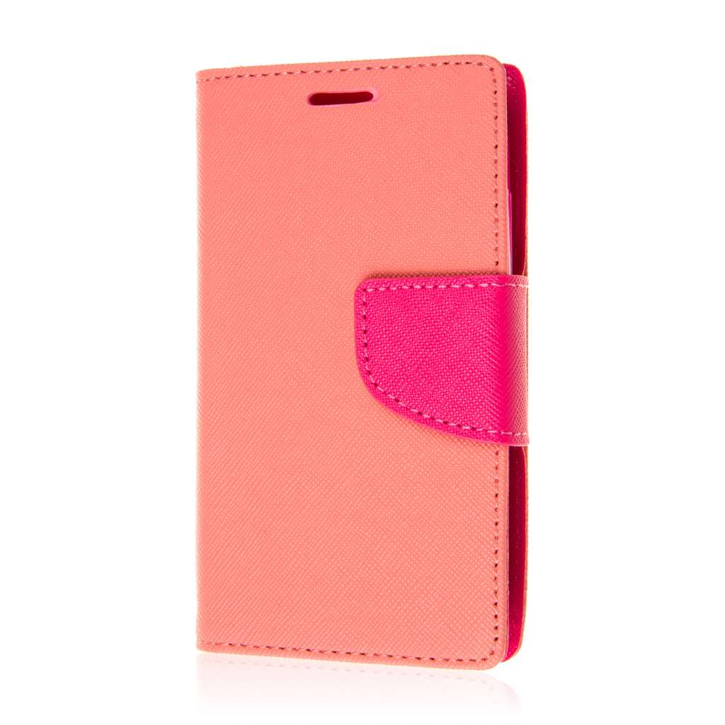 Alcatel OneTouch Evolve 2 - Pink MPERO FLEX FLIP 2 Wallet Stand Case Cover