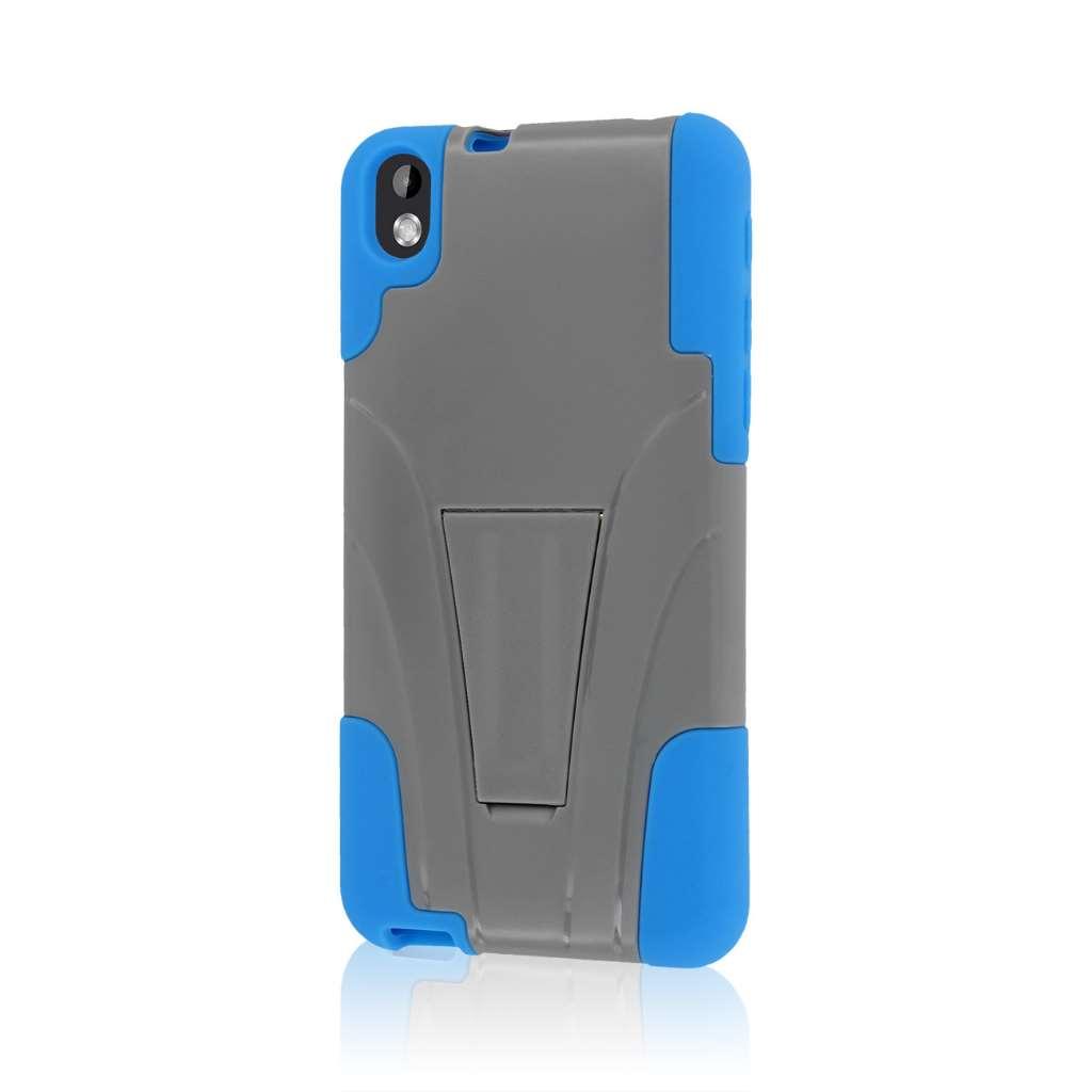 HTC Desire 816 - Blue / Gray MPERO IMPACT X - Kickstand Case Cover