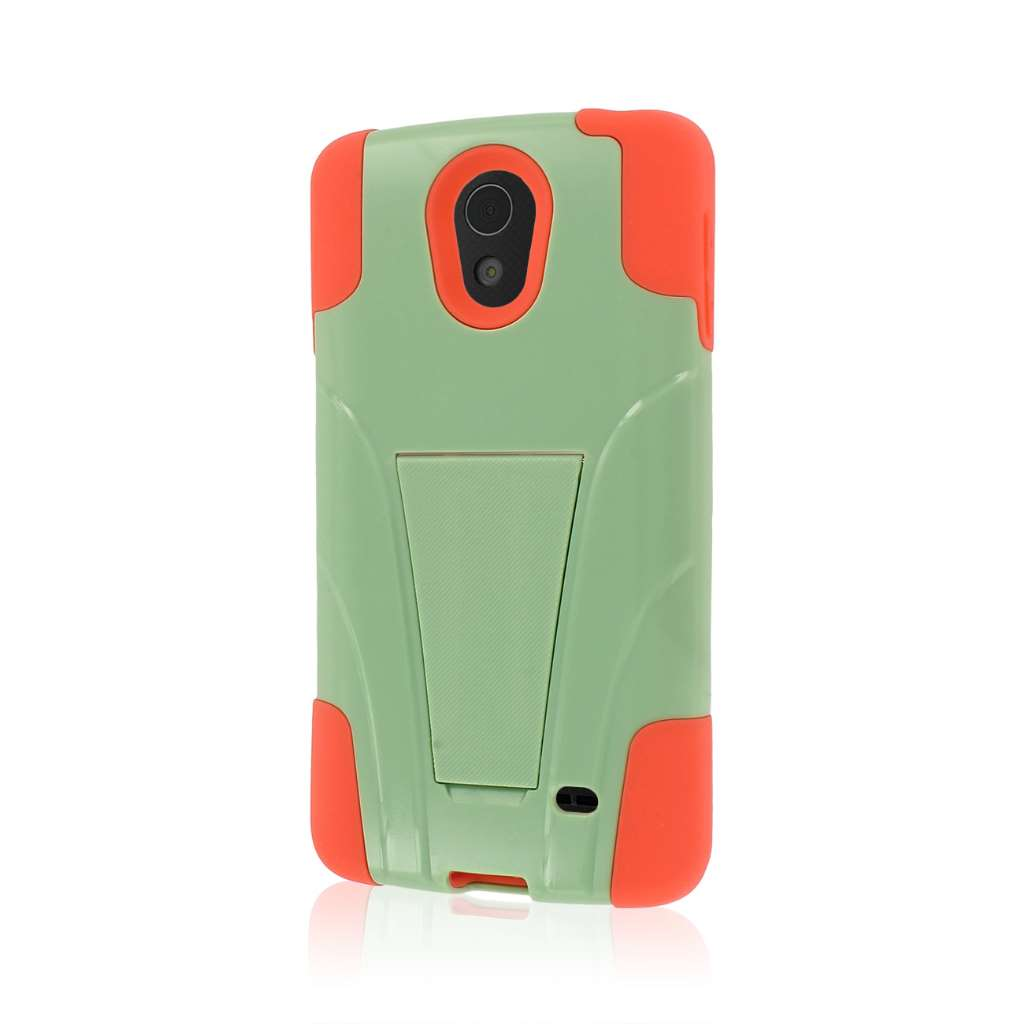 LG Lucid 3 - Coral / Mint MPERO IMPACT X - Kickstand Case Cover