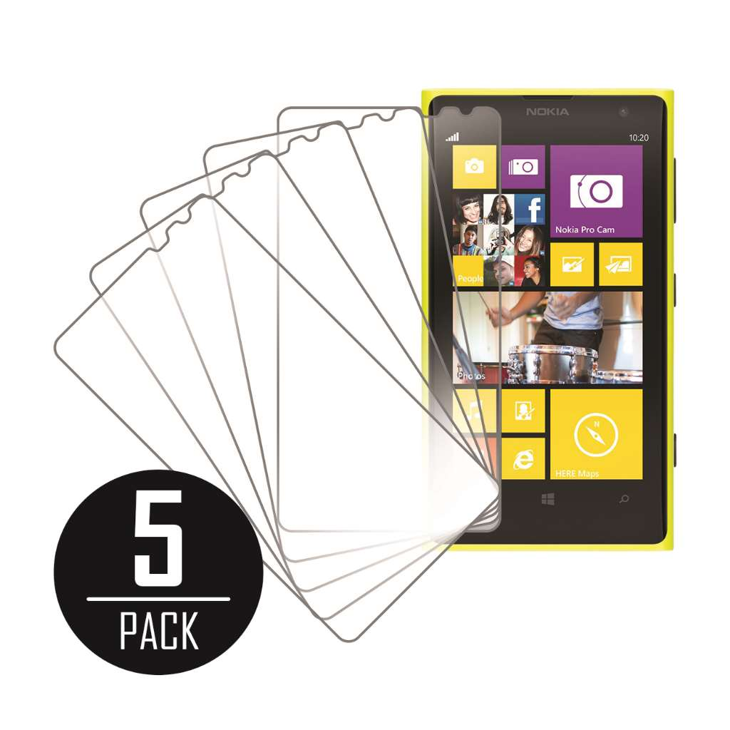 Nokia Lumia 1020 MPERO 5 Pack of Clear Screen Protectors