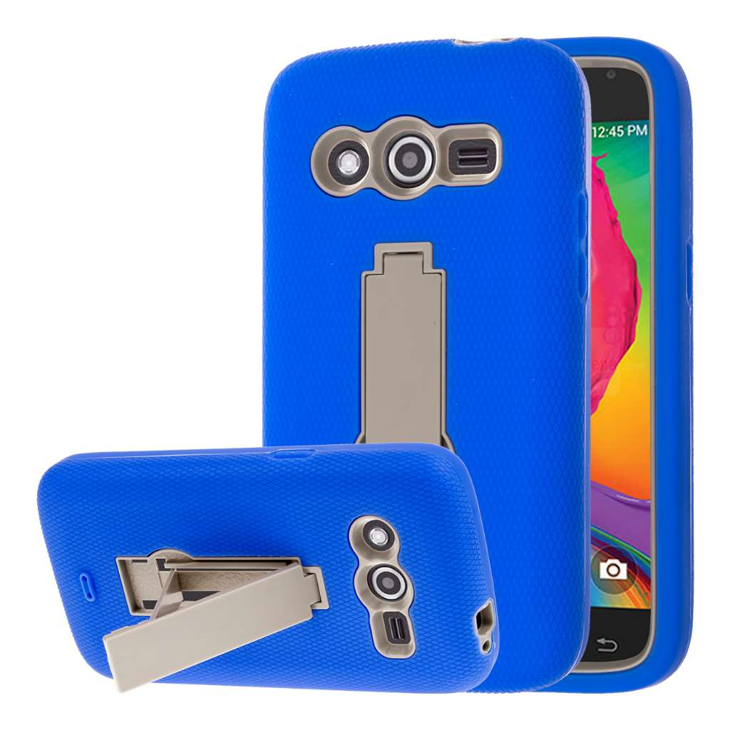 Samsung Galaxy Avant - Blue MPERO IMPACT XS - Kickstand Case Cover