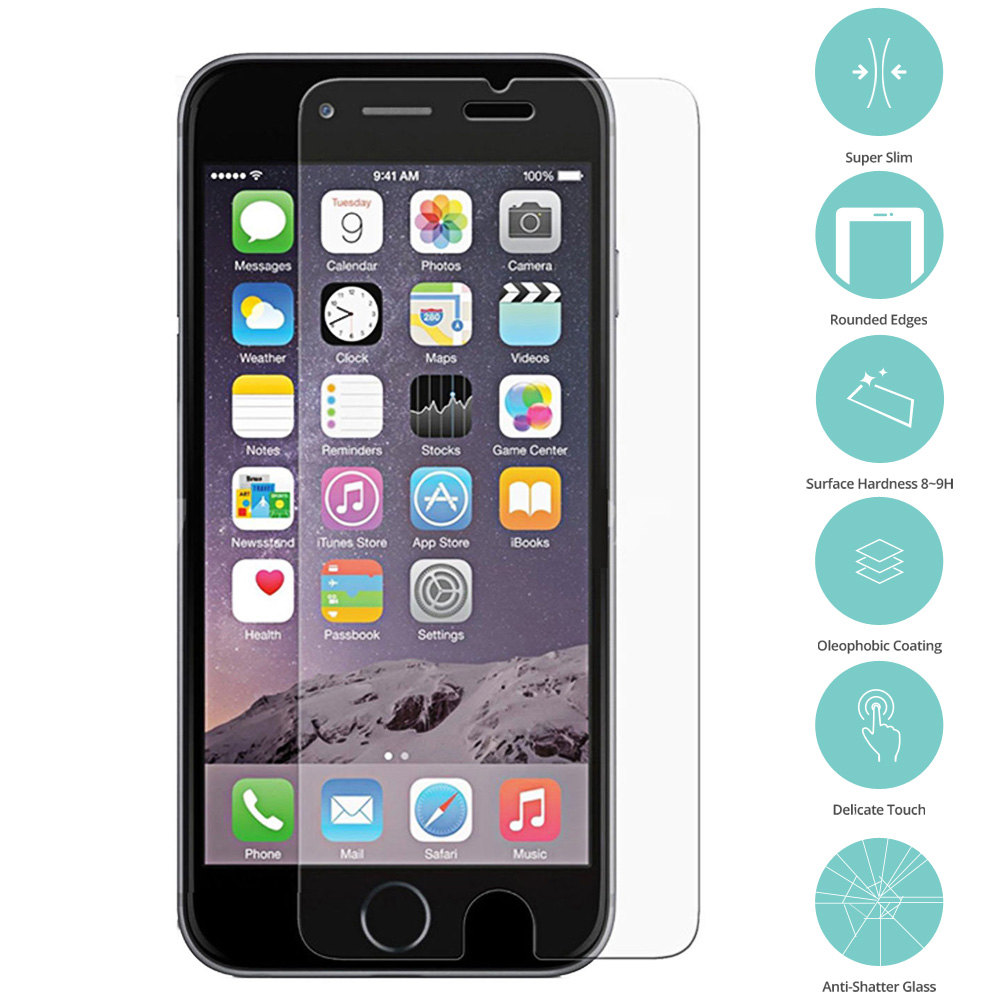 Apple iPhone 7 Clear Tempered Glass Screen Protector