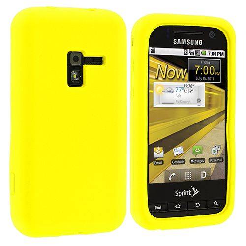 Samsung Conquer 4G D600 Yellow Silicone Soft Skin Case Cover