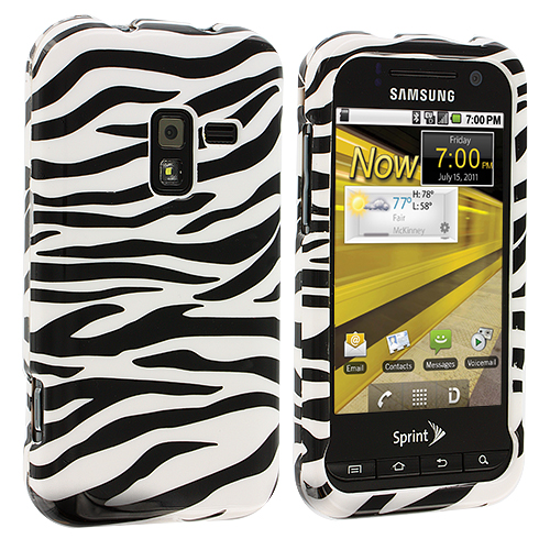 Samsung Conquer 4G D600 Black / White Zebra Design Crystal Hard Case Cover