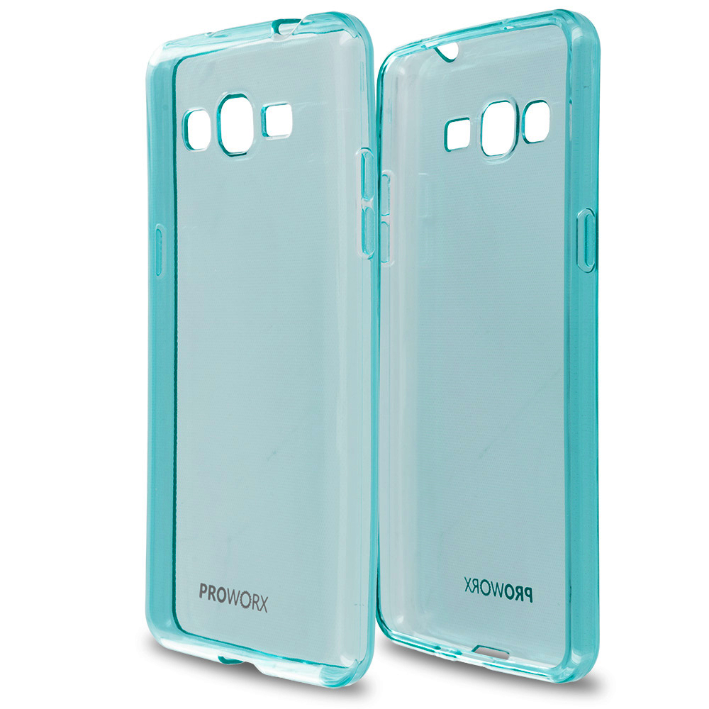 Samsung Galaxy Grand Prime LTE G530 Mint Green ProWorx Ultra Slim Thin Scratch Resistant TPU Silicone Case Cover