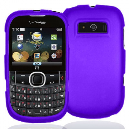 ZTE Adamant F450 Purple Hard Rubberized Case Cover