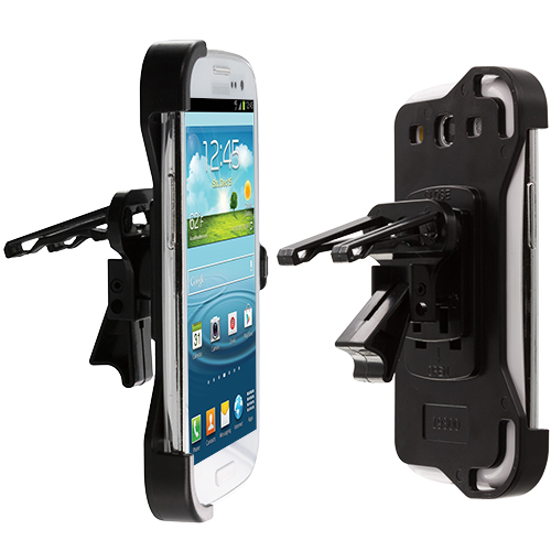 Samsung Galaxy S III S3 Black Car Vent Clip Mount