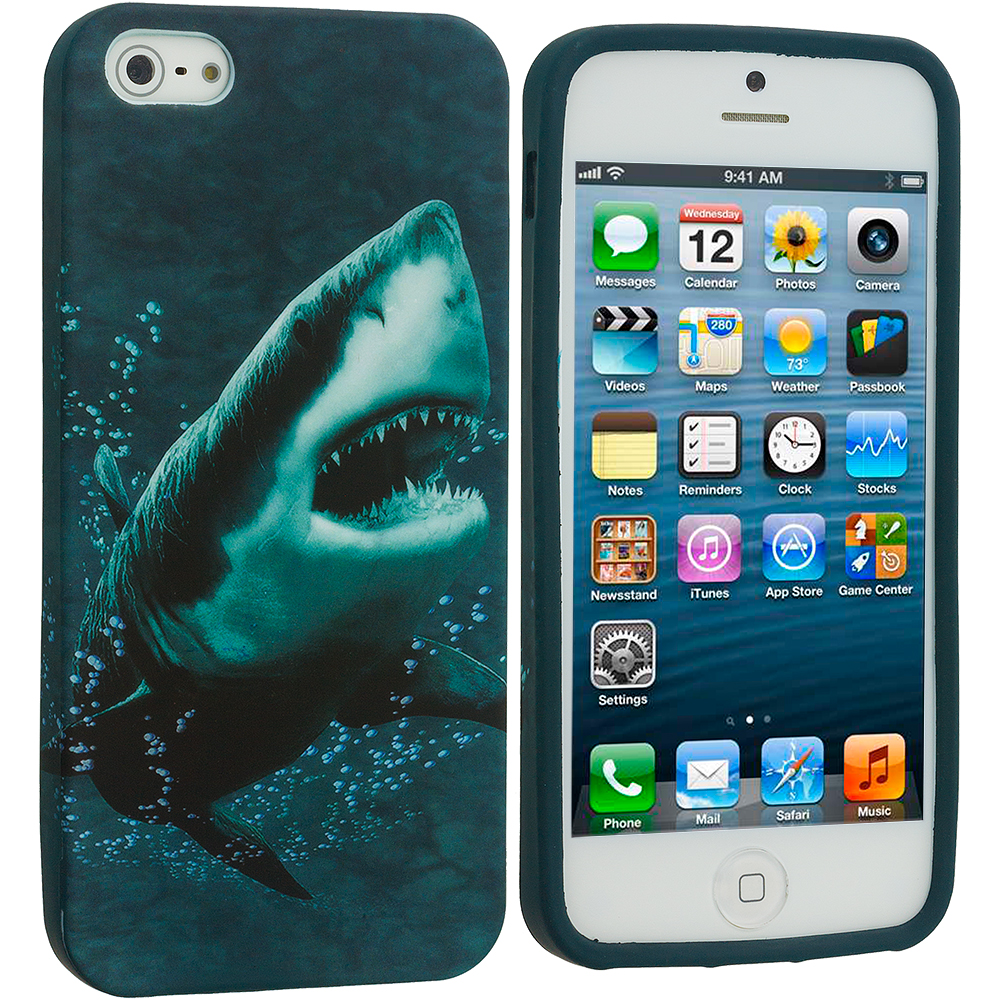 Apple iPhone 5/5S/SE Shark TPU Design Soft Case Cover