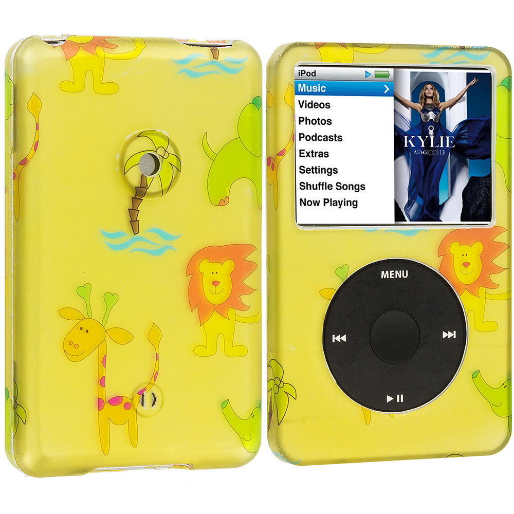 Apple iPod Classic Zoo Hard Rubberized Design Case Cover