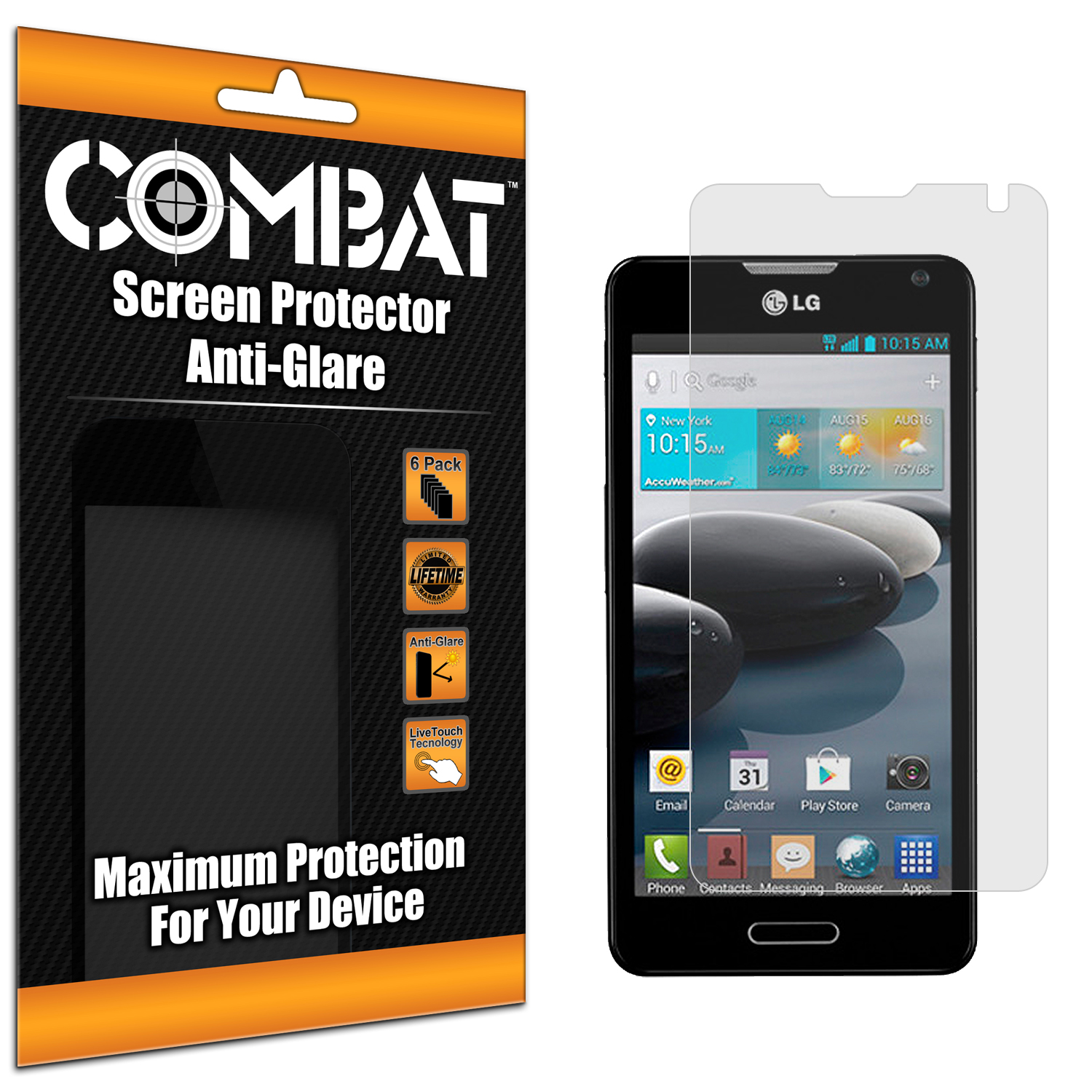 LG Optimus F6 D500 Combat 6 Pack Anti-Glare Matte Screen Protector