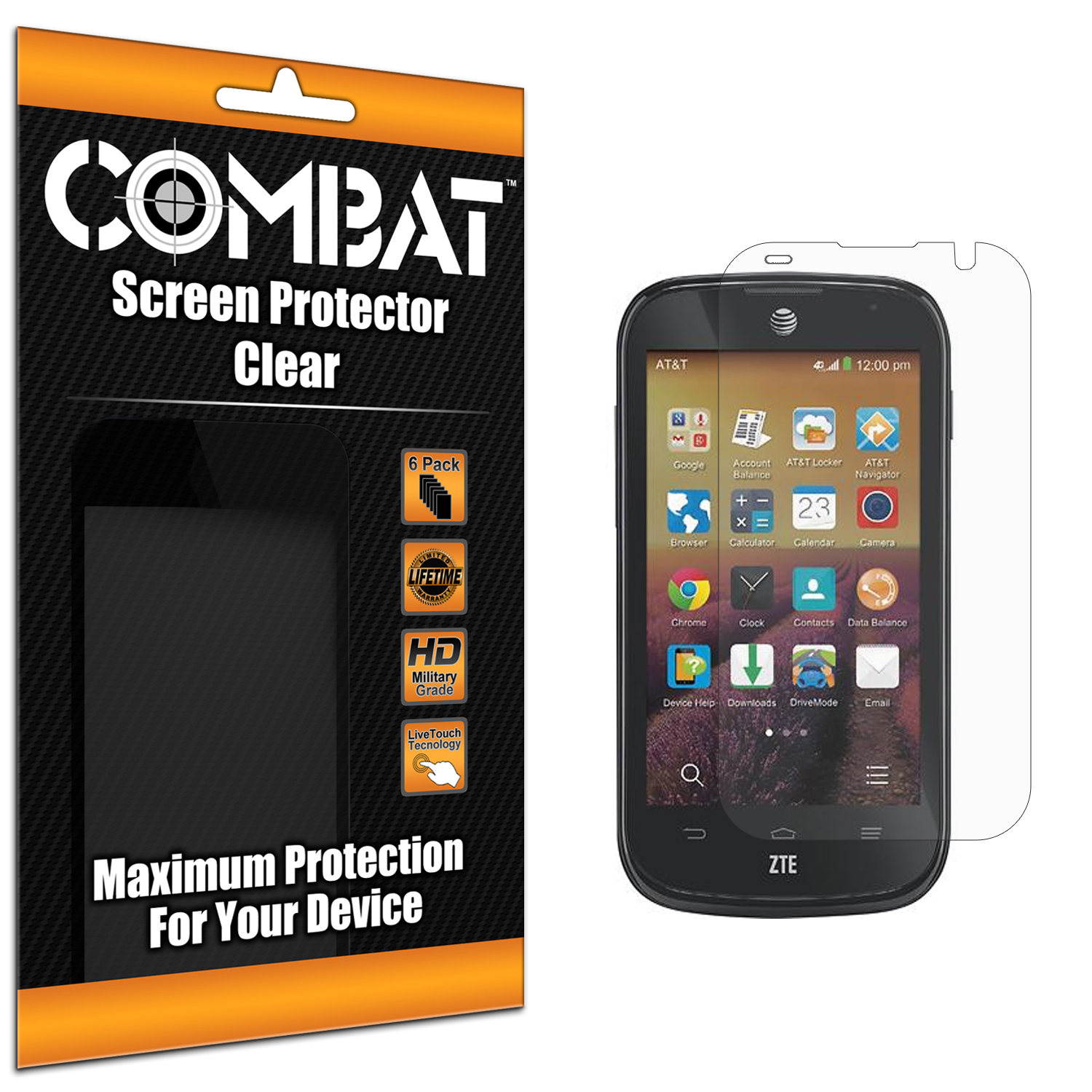 ZTE Compel Combat 6 Pack HD Clear Screen Protector