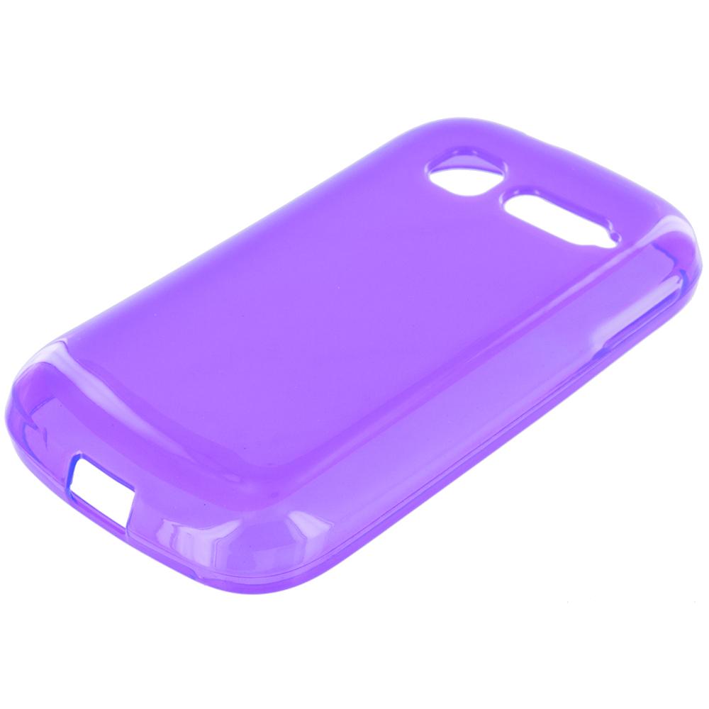 Alcatel One Touch Pop C1 Purple TPU Rubber Skin Case Cover