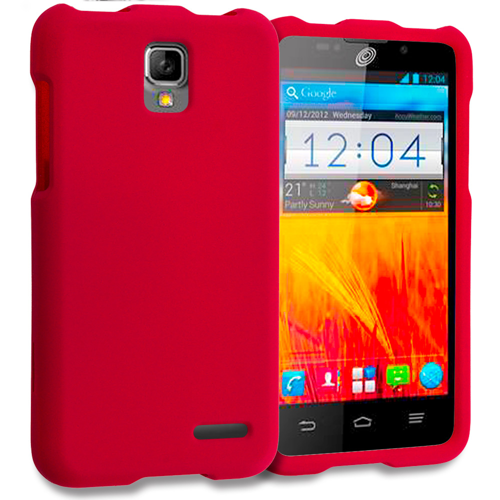 ZTE Rapido Z932C Red Hard Rubberized Case Cover
