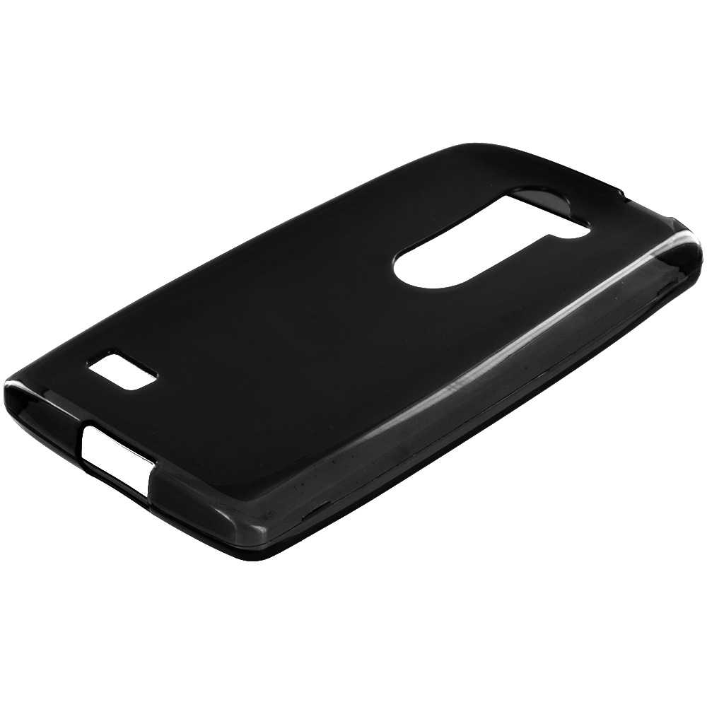 LG Tribute 2 Leon Power Destiny Black TPU Rubber Skin Case Cover
