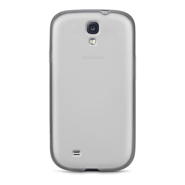 Samsung Galaxy S4 - Clear/Gravel Belkin Grip Candy Case Cover