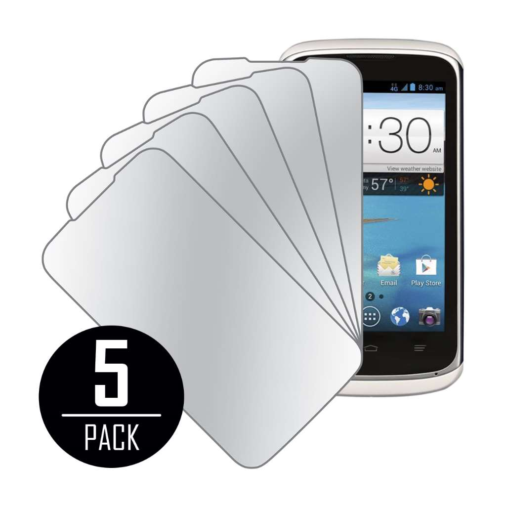 ZTE Radiant / Sonata 4G MPERO 5 Pack of Mirror Screen Protectors