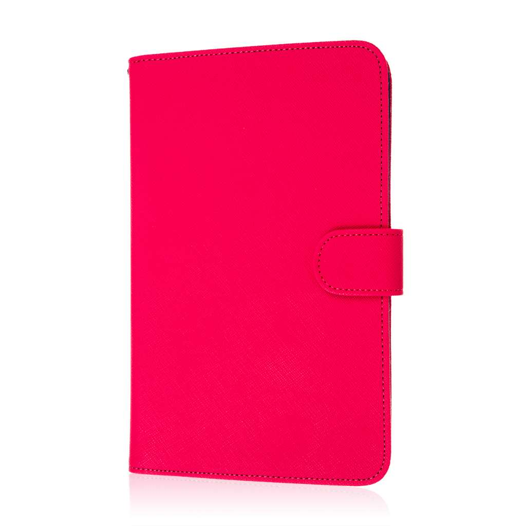 Alcatel OneTouch Pop 7 - Hot Pink MPERO FLEX FLIP Wallet Case Cover