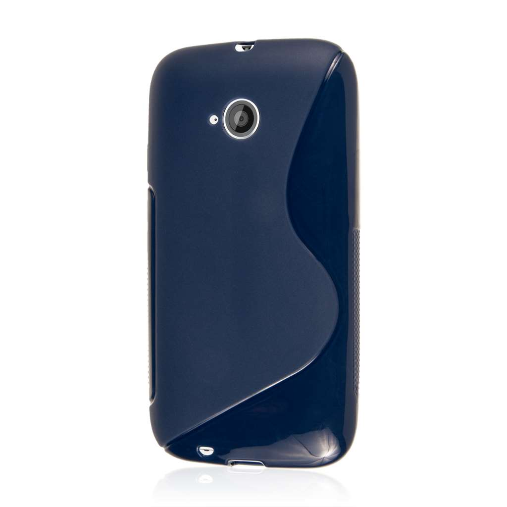 Motorola Moto E 2nd Generation - Navy Blue MPERO FLEX S - Protective Case