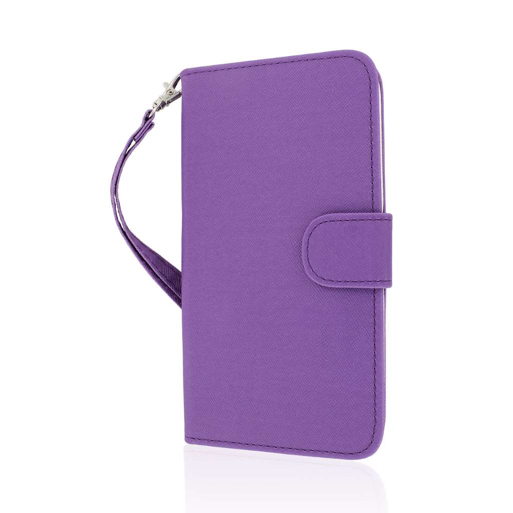 LG G Pro 2 - Purple MPERO FLEX FLIP Wallet Case Cover